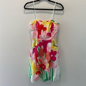 Lily Pulitzer Floral Strapless Dress size 00